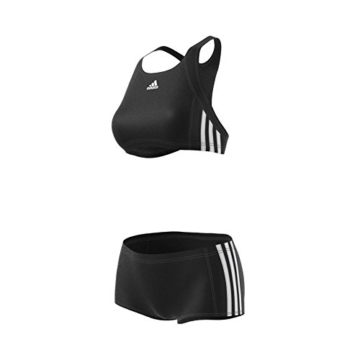 ADIDAS Damen Infinitex Essence Core 3-Stripes Bikini, Black/White, 36 - 14