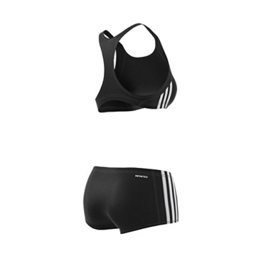 ADIDAS Damen Infinitex Essence Core 3-Stripes Bikini, Black/White, 36 - 15