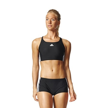 adidas Damen Infinitex Essence Core 3-Stripes Bikini, Black/White, 38 - 1
