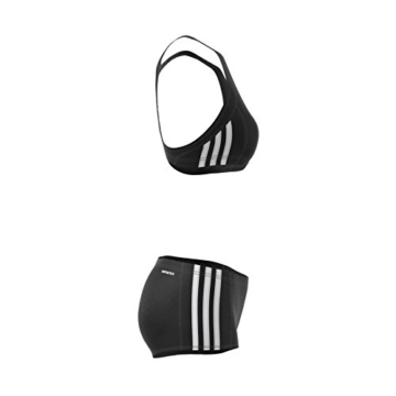 adidas Damen Infinitex Essence Core 3-Stripes Bikini, Black/White, 38 - 10
