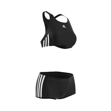 adidas Damen Infinitex Essence Core 3-Stripes Bikini, Black/White, 38 - 11
