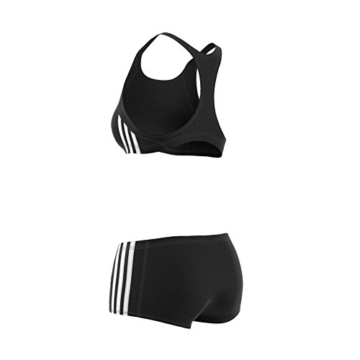adidas Damen Infinitex Essence Core 3-Stripes Bikini, Black/White, 38 - 12