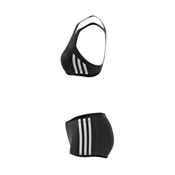 adidas Damen Infinitex Essence Core 3-Stripes Bikini, Black/White, 38 - 9