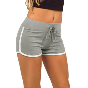 Damen Casual Shorts Hot pants Sportshorts Baumwolle Badehose Grün EU 32/(Asian S) - 1