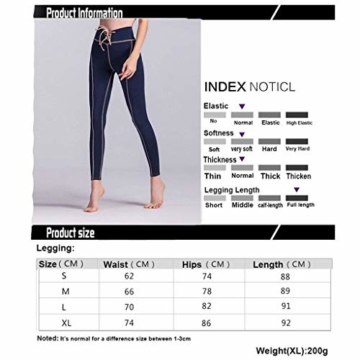 Damen Leggings Frauen Sport Laufhose Breathable Hoch Classic Taille Yoga Hosen Elastic Fitness Yoga Pants Bild S M X Kleidung (Color : Colour, Size : XL) - 6