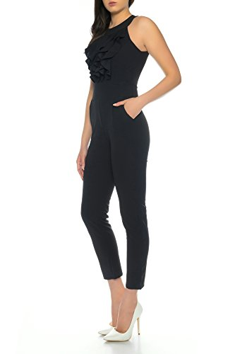 Dress Sheek Damen Elegant Overall Jumpsuit (Schwarz, S) - 2