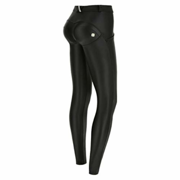 Freddy Hose WR.UP Skinny Taille und Regular Faux Leather Medium Schwarz - 1