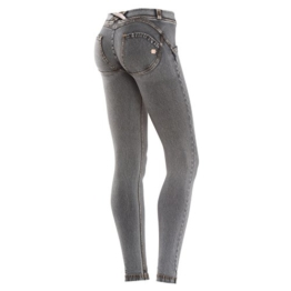 Freddy WR.UP Women's Skinny Jeans niedriger Bund Light Wash-Effekt, Grau/Gelb, Gr. XL - 1