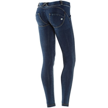 Freddy WR.UP Women's Skinny niedriger Bund Dark Wash-Denim, Dunkelblau/Gelb, Gr. XL - 1