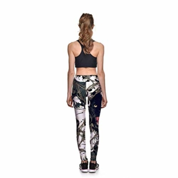 Huixin Frauen Männer Workout Fitness Digitaldruck Workout Leggings Elegant Stretch Yoga Hosen Aktive Laufhose Jogginghosen (Color : PhotoColor, Size : M) - 3