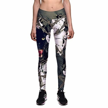 Huixin Frauen Männer Workout Fitness Digitaldruck Workout Leggings Elegant Stretch Yoga Hosen Aktive Laufhose Jogginghosen (Color : PhotoColor, Size : M) - 1