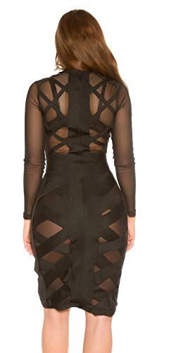 Koucla Hot Kleid Mesh Bondage Look Stehkragen Zipper L - 3