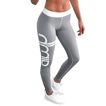 Morbuy Damen Leggings, Sport Gym Yoga Workout Pants Basic Fitness Hohe Taille Jogginghose Trainingshose Skinny Hosen Hose Sporthose (XL, C) - 1
