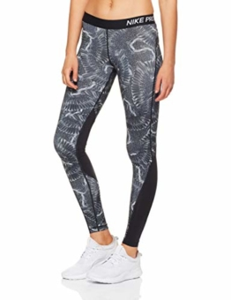 Nike Damen Chain Feather Tights, Wolf Grey/Black, XS - 1