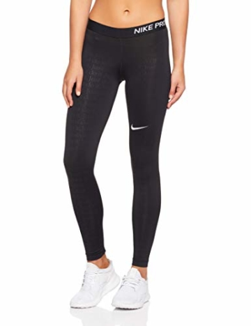 Nike Damen Just Do It Hose, Black/White, S - 1
