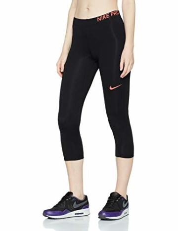 Nike Damen Pro 3/4 Trainings-Tights, Schwarz (Racer Pink/014), Gr. XL - 1