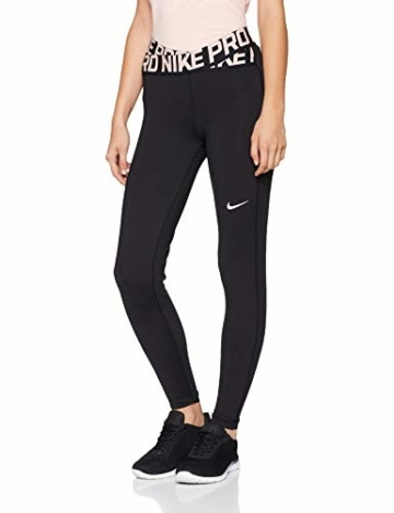 Nike Damen Tights Crossover, Black/Storm Pink/(White), M - 1