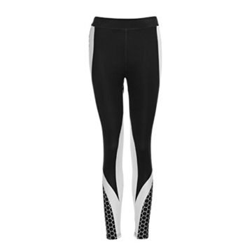 Röhrenhose Leggings Hosen Jogginghose Damen 3D Drucken Yoga Hose Slimming Running High-Waist Laufhose Röhrenjeans Runninglang Hose Workout Schwarz Strumpfhose Lässige Hosen LMMVP (S, Schwarz) - 2