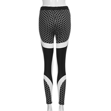 Röhrenhose Leggings Hosen Jogginghose Damen 3D Drucken Yoga Hose Slimming Running High-Waist Laufhose Röhrenjeans Runninglang Hose Workout Schwarz Strumpfhose Lässige Hosen LMMVP (S, Schwarz) - 3