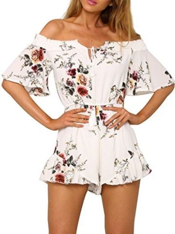 simplee apparel damen sommer jumpsuit elegant blumen. Black Bedroom Furniture Sets. Home Design Ideas