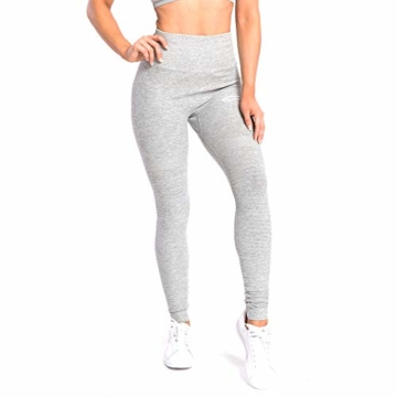 SMILODOX Damen Leggings High Waist Ivy | Seamless - Figurformende Tight für Fitness Gym Yoga Training & Freizeit | Sporthose - Workout Trainingshose, Größe:S, Farbe:Grau Melange - 4