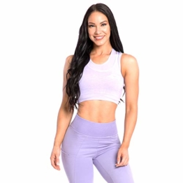 SMILODOX Seamless Sport BH Spine | Fitness-BH ohne Bügel | Starker Halt im Training - Bustier für Pilates Yoga Gym Fitness - Soft Büstenhalter - Sports Bra, Farbe:Lila, Größe:S - 1