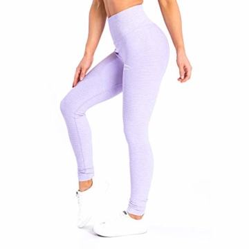 SMILODOX Sport High Waist Leggings Damen | Seamless - Figurformende Tight für Fitness Gym Yoga Training & Freizeit | Sporthose - Workout Trainingshose, Größe:S, Farbe:Flieder - 1