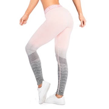 SMILODOX Sport Leggings Damen 'Recent' | Seamless - Figurformende Tight für Fitness Gym Yoga Training & Freizeit | Sporthose - Workout Trainingshose - Tights Laufhose, Größe:L, Farbe:Koralle - 2