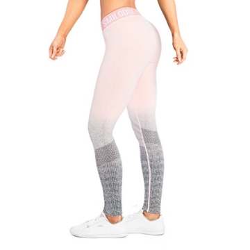 SMILODOX Sport Leggings Damen 'Recent' | Seamless - Figurformende Tight für Fitness Gym Yoga Training & Freizeit | Sporthose - Workout Trainingshose - Tights Laufhose, Größe:L, Farbe:Koralle - 4
