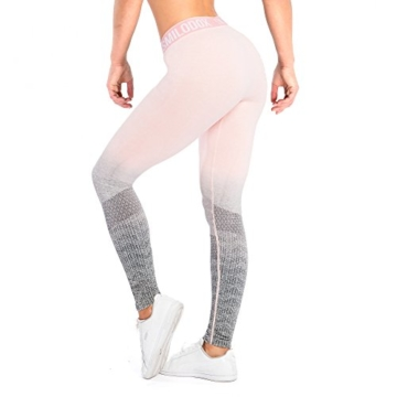 SMILODOX Sport Leggings Damen 'Recent' | Seamless - Figurformende Tight für Fitness Gym Yoga Training & Freizeit | Sporthose - Workout Trainingshose - Tights Laufhose, Größe:L, Farbe:Koralle - 5