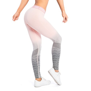 SMILODOX Sport Leggings Damen 'Recent' | Seamless - Figurformende Tight für Fitness Gym Yoga Training & Freizeit | Sporthose - Workout Trainingshose - Tights Laufhose, Größe:L, Farbe:Koralle - 6
