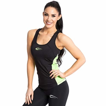 SMILODOX Sport Tank Top Damen | Trainingsshirt ideal für Gym Fitness & Workout | Ärmelloses Sport T-Shirt - Bequemer Schnitt - Sporttop- Unterhemd - Trägershirt, Farbe:Schwarz, Größe:XS - 2