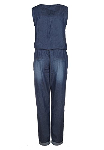 Sublevel Damen Jeans Overall | Bequemer Jumpsuit aus hochwertigem Denim | Used Washed One-Piece Dark-Blue M - 2