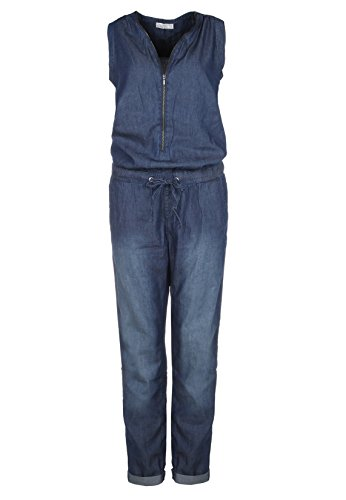 Sublevel Damen Jeans Overall | Bequemer Jumpsuit aus hochwertigem Denim | Used Washed One-Piece Dark-Blue M - 1