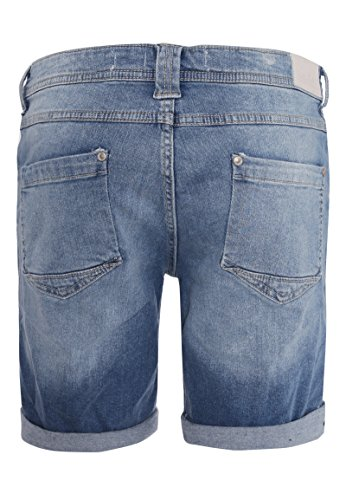 Sublevel Damen Shorts | Blaue Jeans Bermuda mit Destroyed Parts im Boyfriend-Style Blue M - 3