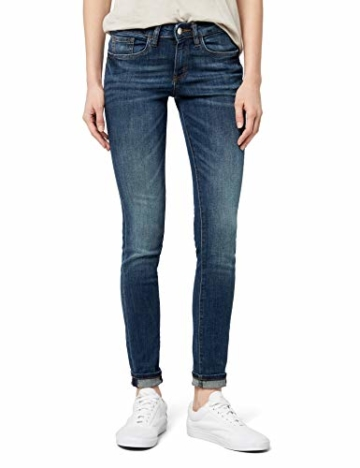 TOM TAILOR Damen Jeanshose Skinny Alexa, Blau (Dark Stone wash Denim 1053), W33/L34 (Herstellergröße: 33) - 1