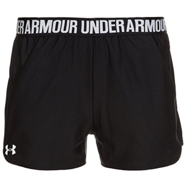 Under Armour Damen Play Up Shorts 2 Kurze Hose, schwarz(Black / Black / White (002)), M - 1