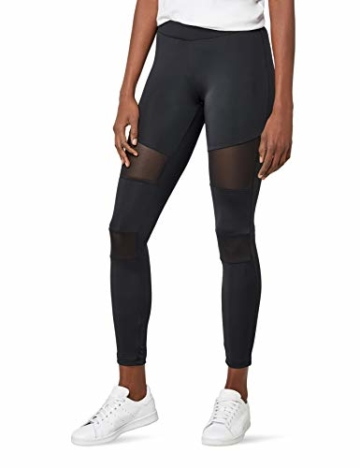 Urban Classics Ladies Tech Mesh Leggings, Schwarz (black 7), L - 1