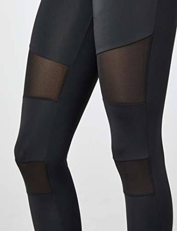 Urban Classics Ladies Tech Mesh Leggings, Schwarz (black 7), L - 3