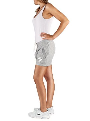 WOLDO Athletic Damen Sweatshorts Trainingshose Shorts Kurze Hose Sport Fitness Gym Freizeit (M, Hellgrau) - 2