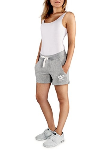 WOLDO Athletic Damen Sweatshorts Trainingshose Shorts Kurze Hose Sport Fitness Gym Freizeit (M, Hellgrau) - 1