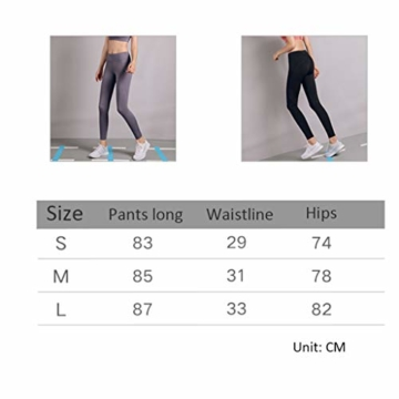 Zyj stores-Yoga Hosen Fitness Pants Elastic Schnell trocknende Jogginghose Training Enge Yogahose Herbst und Winter Leggings (Color : Black, Größe : M) - 2