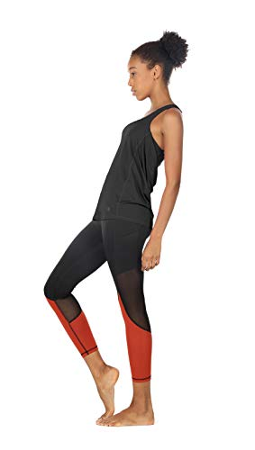 icyzone Damen Sport Tops mit Integriertem BH - 2 in 1 Yoga Gym Shirt Fitness Training Tanktop (S, Black) - 3