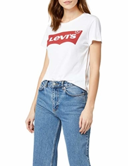 Levi's Damen T-Shirt, The Perfect Tee, Weiß (Batwing White Graphic 53),  Gr. XL - 1