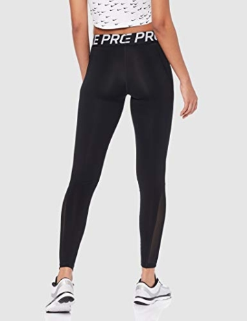 Nike Damen Pro Leggings, Black/White, M - 4