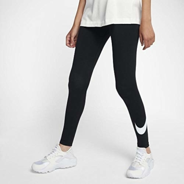 Nike W NSW Club logo2 Damen Leggings, Schwarz(Black/White/010), Gr. S - 7