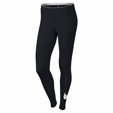 Nike W NSW Club logo2 Damen Leggings, Schwarz(Black/White/010), Gr. S - 8