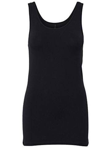 ONLY 3er Pack Damen Basic Tops Tank Top dunkel blau lang 15201465 (M, Blau (Night Sky)) - 2