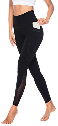 Persit Yoga Leggings Damen, Sporthose Yogahose Sport Leggins Tights für Damen Schwarz-M - 1