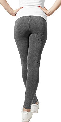 Urban Classics Damen Sport Legging Leggings Denim Jersey grau (Darkgrey) Small - 2